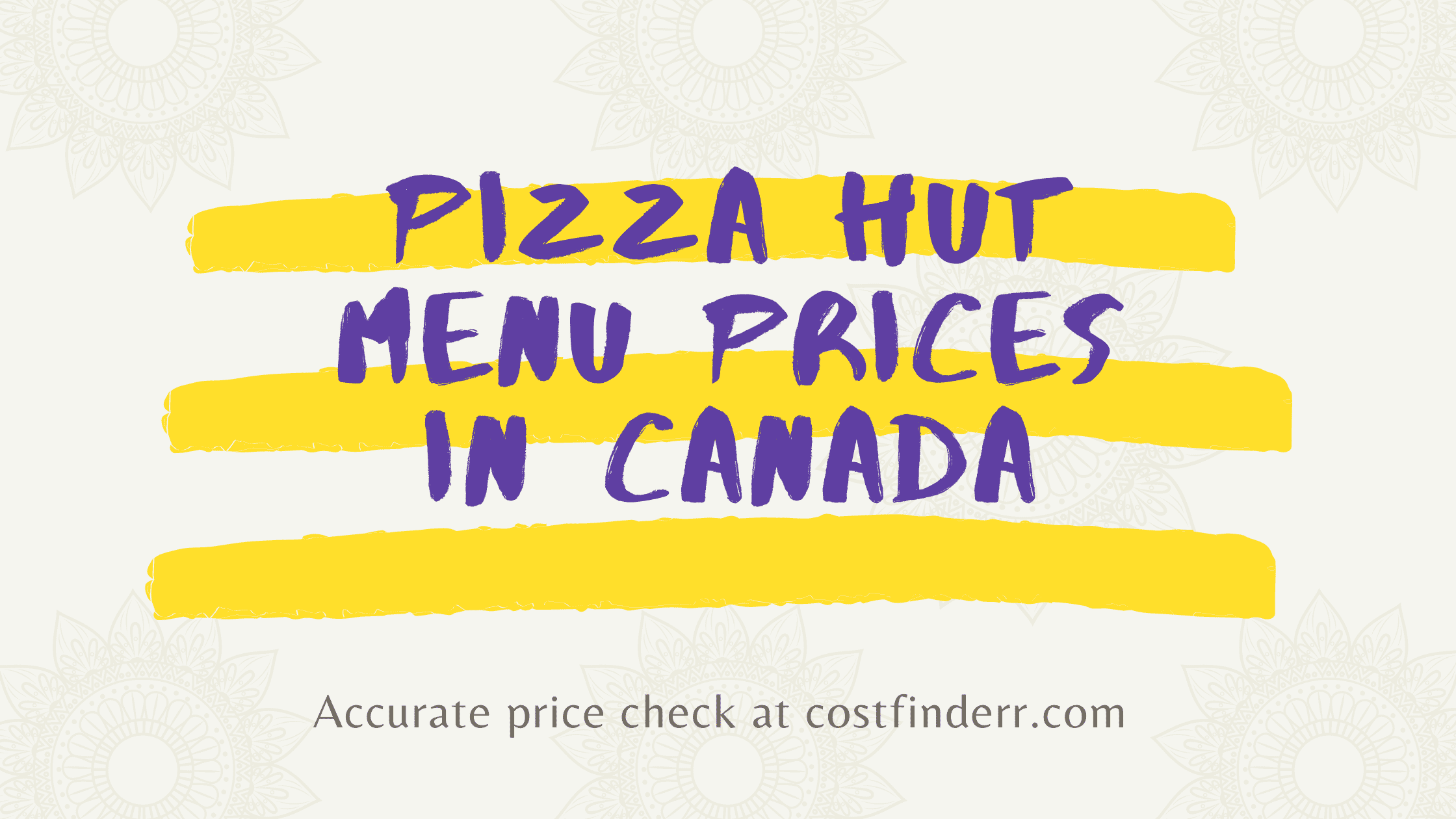pizza hut menu prices in canada