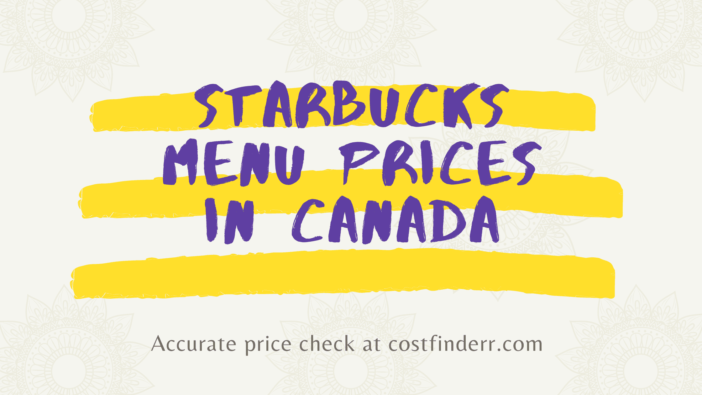 starbucks menu prices in canada